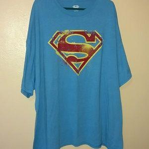 Superman symbol t-shirt. Blue. 5x